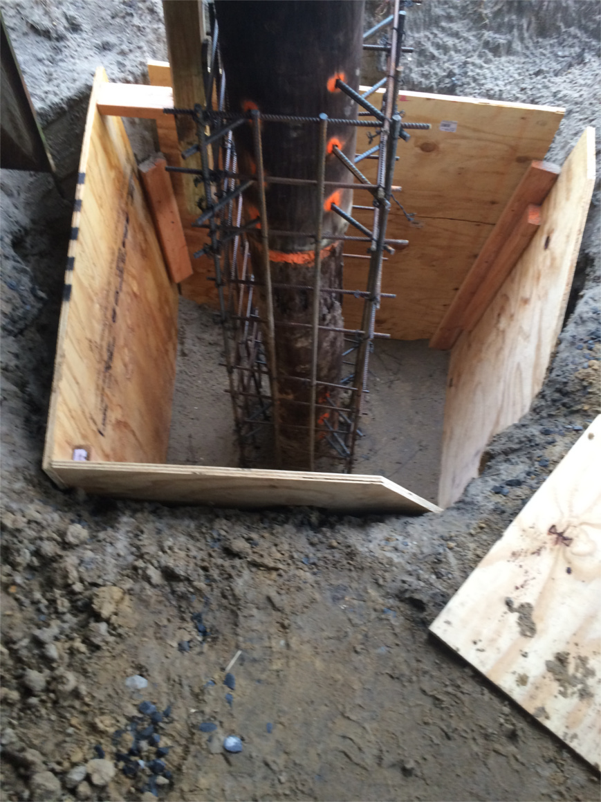 Concrete Formed Footers Pile Reinforcement Ocean City