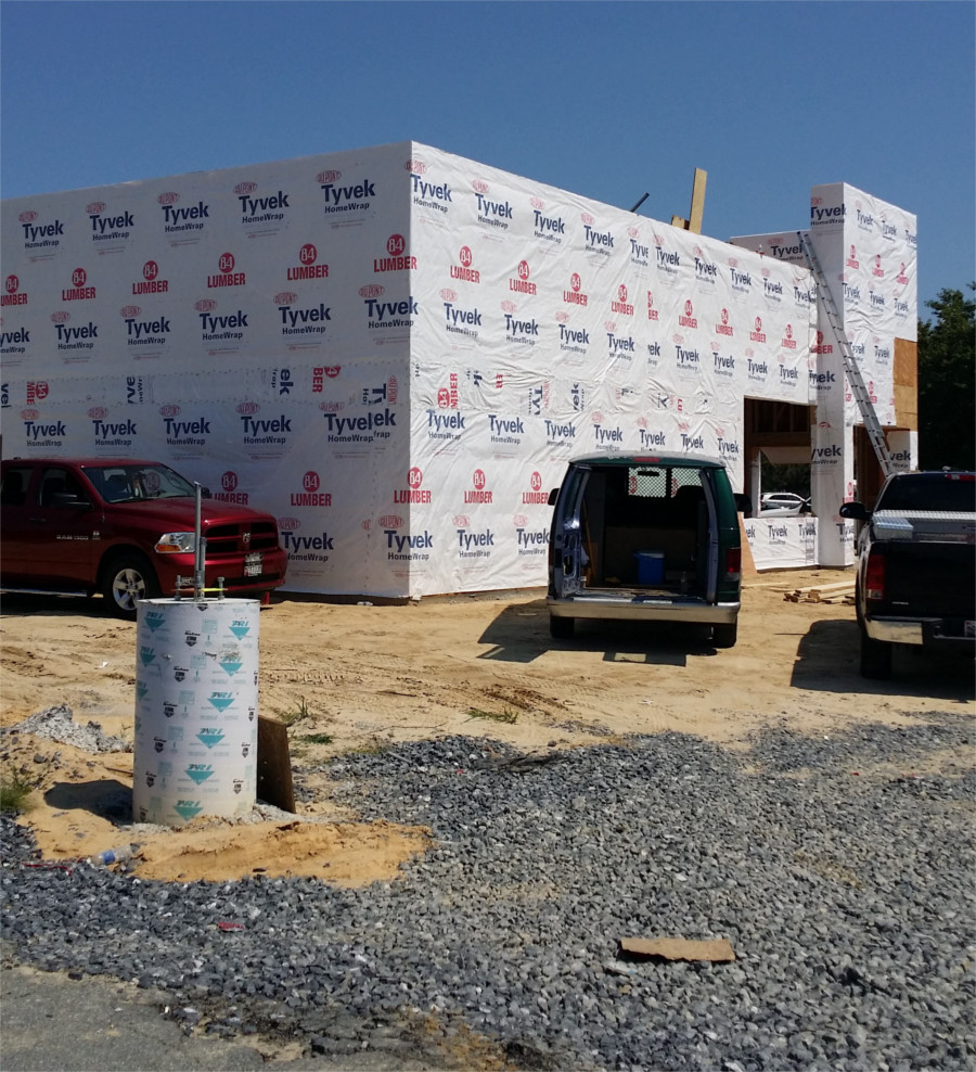 construction framing dunkin donuts salisbury MD