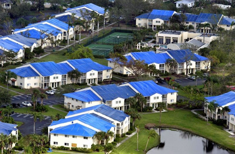 Emergency Roof Tarp Installations - Hurricane Irma