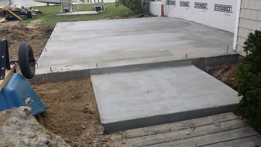 Concrete Foundation for Residential Home Addition in Ocean City MD